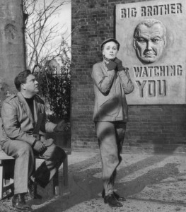 A scene from the film adaptation of George Orwell's '1984'