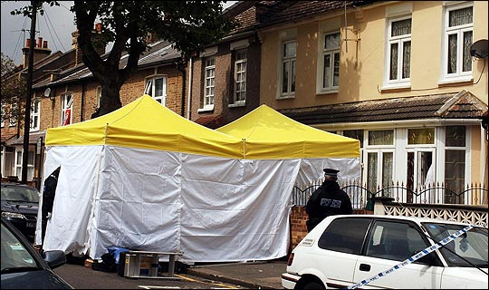 The home in Forest Gate London that was raided by terror police.