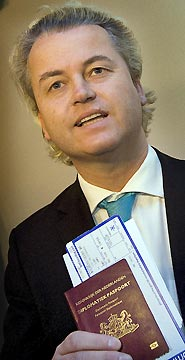 Mr Wilders - Your name is on the list and you are NOT coming in.